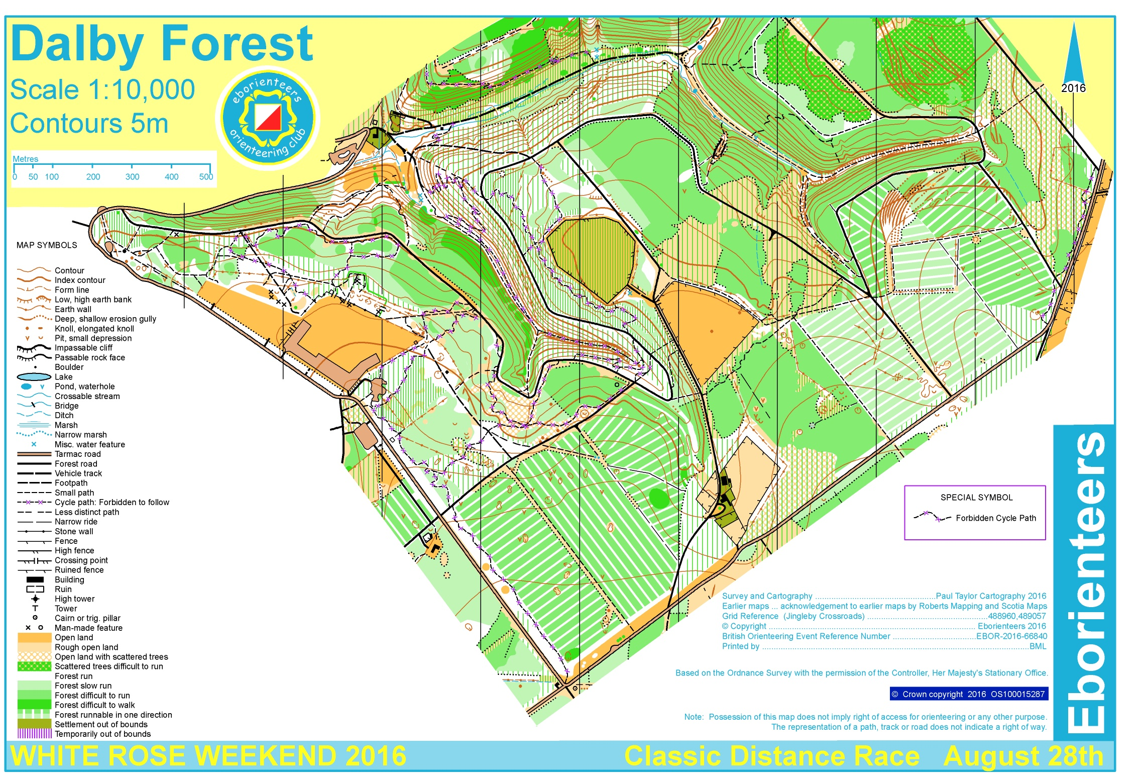 White Rose 2016 Classic Distance  August 28th 2016  Orienteering